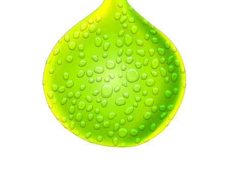 레몬 녹색 드롭 젖은 육즙 드로잉 추상적 인 배경