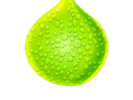Lemon green drop wet juicy drawing abstract background