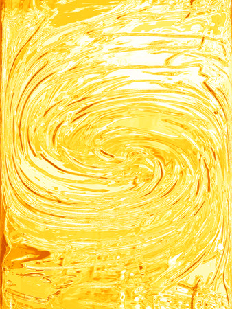 Yellow painting spiral abstract background
