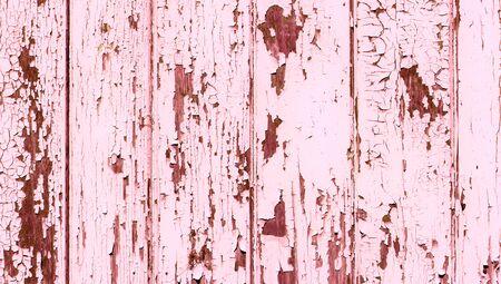 oldish: Pink vintage wood fence background cracked paint texture