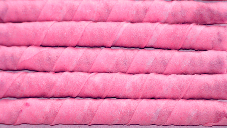 horizontals: Pink sweet gourmet party catering waffles sticks background