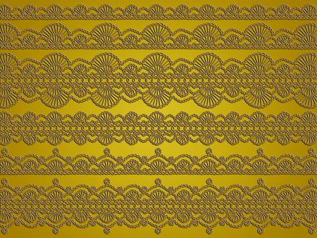 Vintage crochet textile digital background