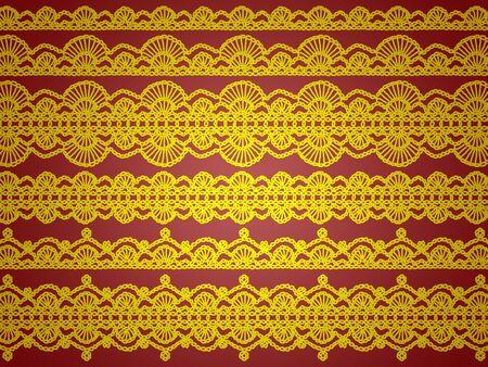 エレガントな背景を黄色のかぎ針編み