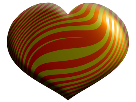 Heart shape with stripes