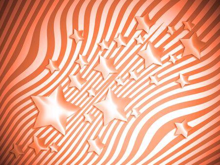 transmutation: Orange stars and stripes background