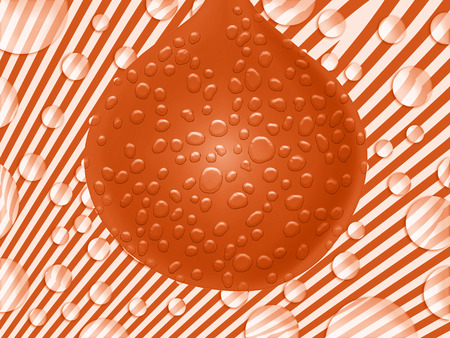 Orange wet ball on fantasy background Stock Photo