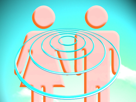 targets: Couple targets illustration