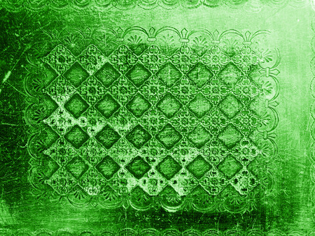 antiquity: Green antique wood carve texture abstract background Stock Photo