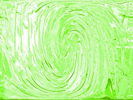 Bright green paint spiral texture abstract background