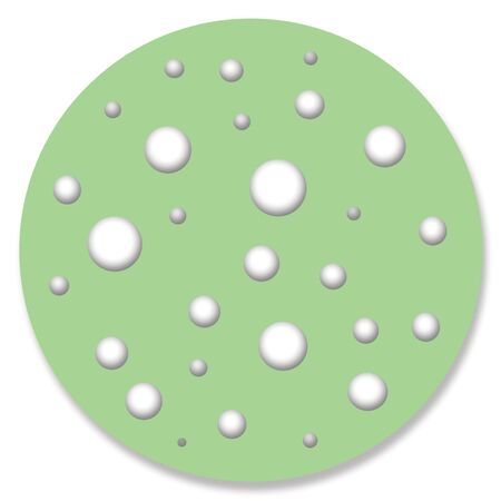 one item: Dots on green circle