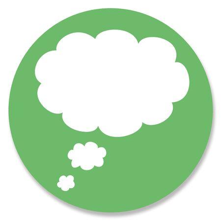 rounded circular: Dreams cloud in green circle Stock Photo