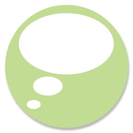 one item: Green communication icon circle Stock Photo