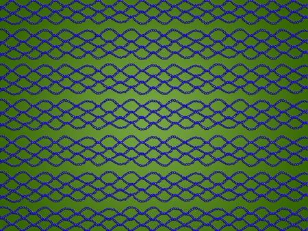 Blaue digitale Häkelspitzee auf grünem abstraktem Hintergrund Standard-Bild - 80166088