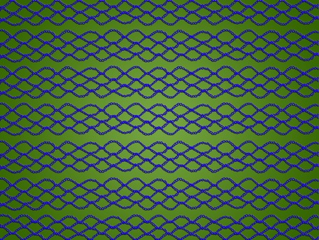 Blue digital crochet laces on green abstract background
