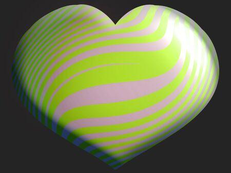 alone in the dark: Brilliant heart shaped balloon on dark background