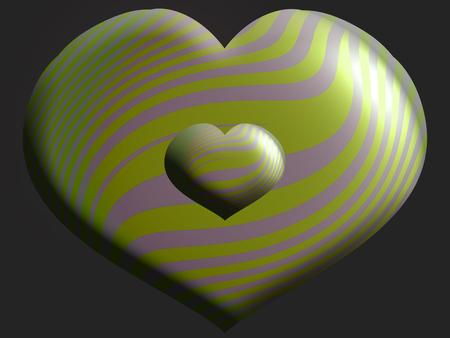 Heart helium balloon shape on dark background