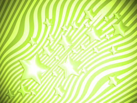 별과 선으로 밝은 초록 밝은 추상적 인 배경