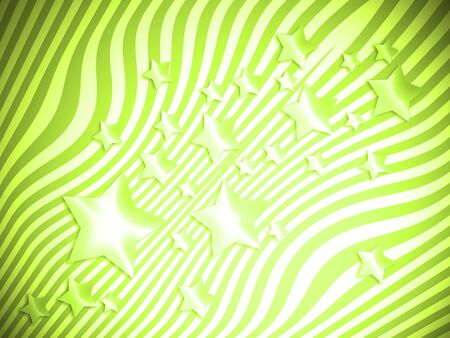 Light green bright abstract background with stars and lines 스톡 콘텐츠