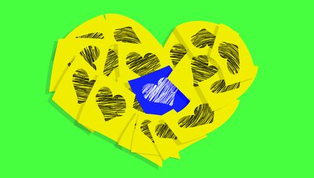 Love memo heart