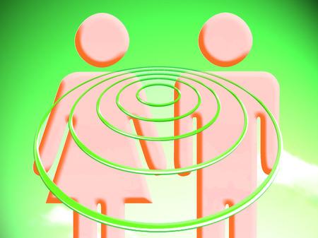 Couple goals vibes circles Reklamní fotografie
