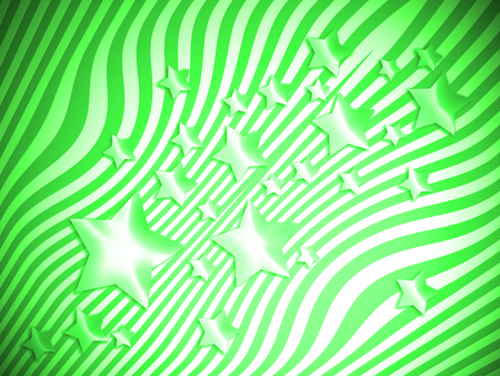 Starry striped green abstract background