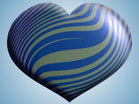 Blue striped shape background