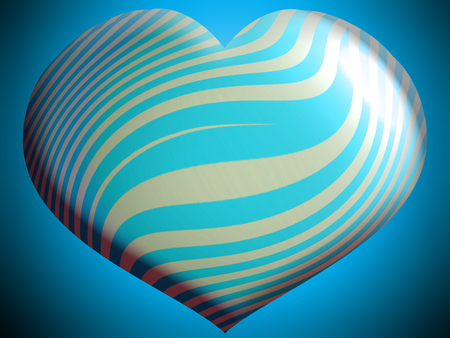Turquoise helium heart balloon close up