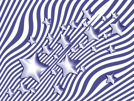 imaginary line: Dark blue navy stars and lines abstract background