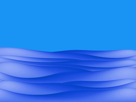 coastal: Blue river water and sky background