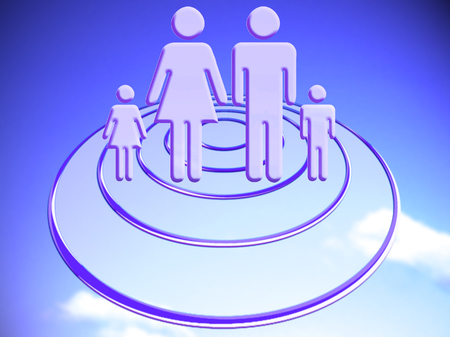Family target conceptual stock image Reklamní fotografie