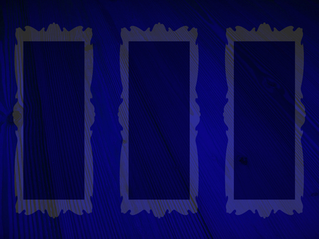 photo album: Blue night empty frames rectangles backgrounds
