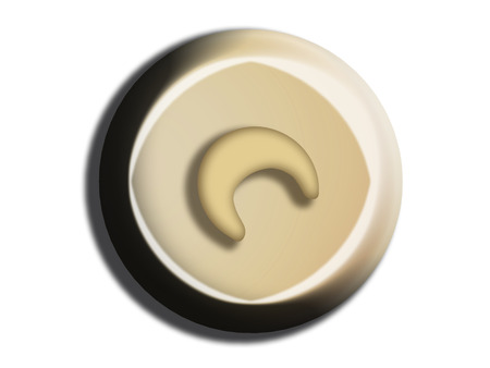 White chocolate circle top view
