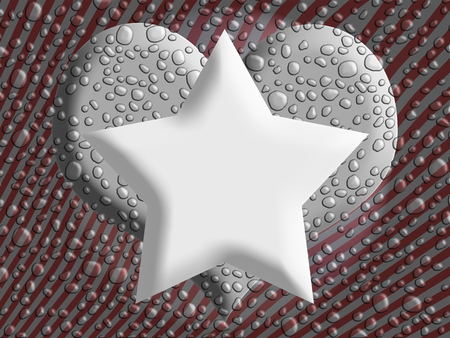 cian: White star heart lines and water drops background