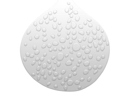 Wet drop shape isolated on white background