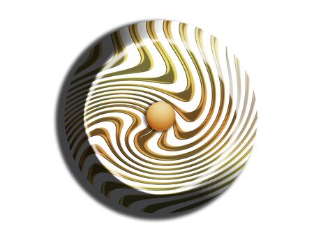 Stripes circular chocolate top view