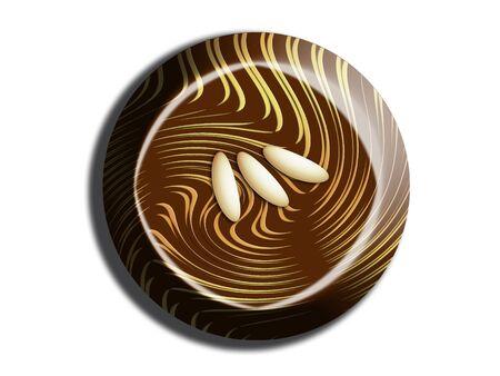 Circular chocolate top view Banco de Imagens