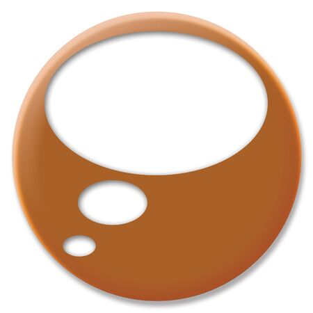 cupper: Thinking bubble circle icon Stock Photo