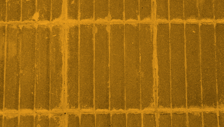 Yellow floor tiles lines background Stock Photo