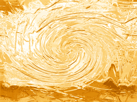 Ochre gesso and paint spiral abstract background