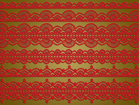 Elegant laces xmas background Stock Photo