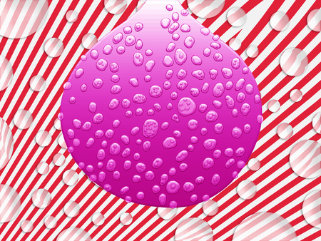 Pink drop with drops fantasy background