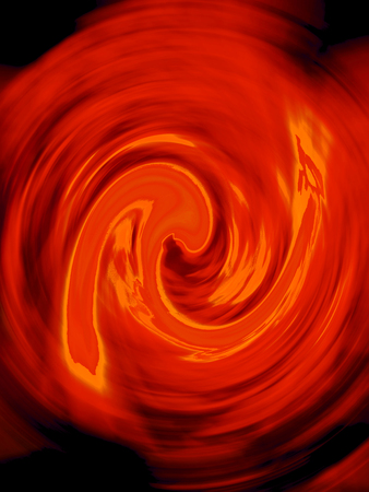 Orange fire flames spiral background Stock Photo