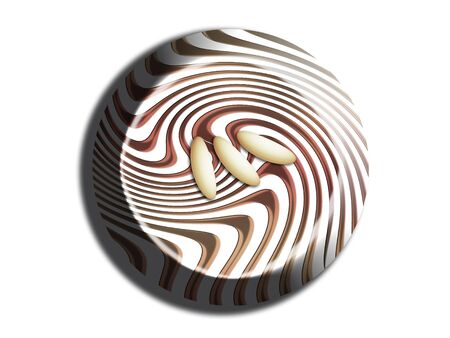Striped chocolate bombom top view