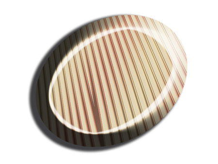 Striped white chocolate candy top view Imagens