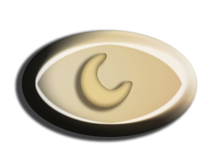 White chocolate oval top view