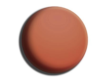 Chocolate circular button