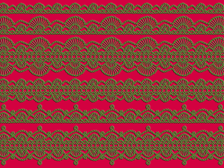 Laces illustration xmas background