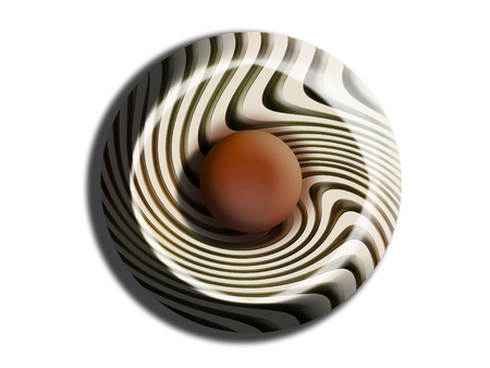 Stripes and chocolate candy illustration