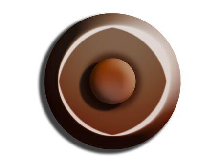 Chocolate circle top view Imagens