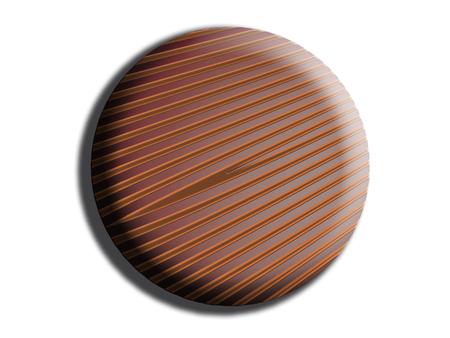 Circular striped chocolate top view